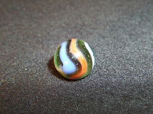 Vintage Marbles Twist Or Swirl Marble 5 8 Quot Green Blue