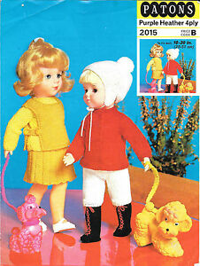 Vintage-Dolls-Clothes-Knitting-Pattern-10-034-and-20-034-Dolls4-ply