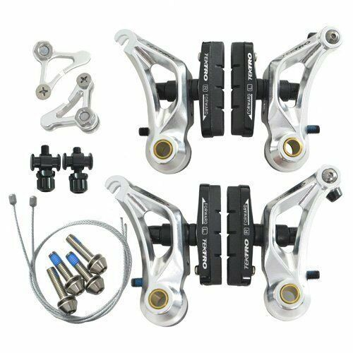Spedizione rapida TEKTRO CR710 Cyclocross Cantilever Freno Set Anteriore e Posteriore, argentoo