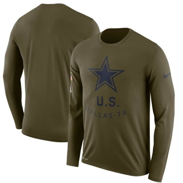 the best attitude fb646 82e91 Dallas Cowboys Nike Salute to Service Sideline Legend Long Sleeve Tee Shirt
