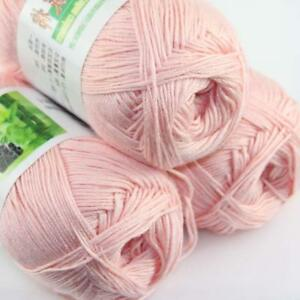 Sale-New-3-Skeinsx-50g-Soft-Bamboo-Cotton-Baby-Hand-Knit-Shawls-Crochet-Yarn-21