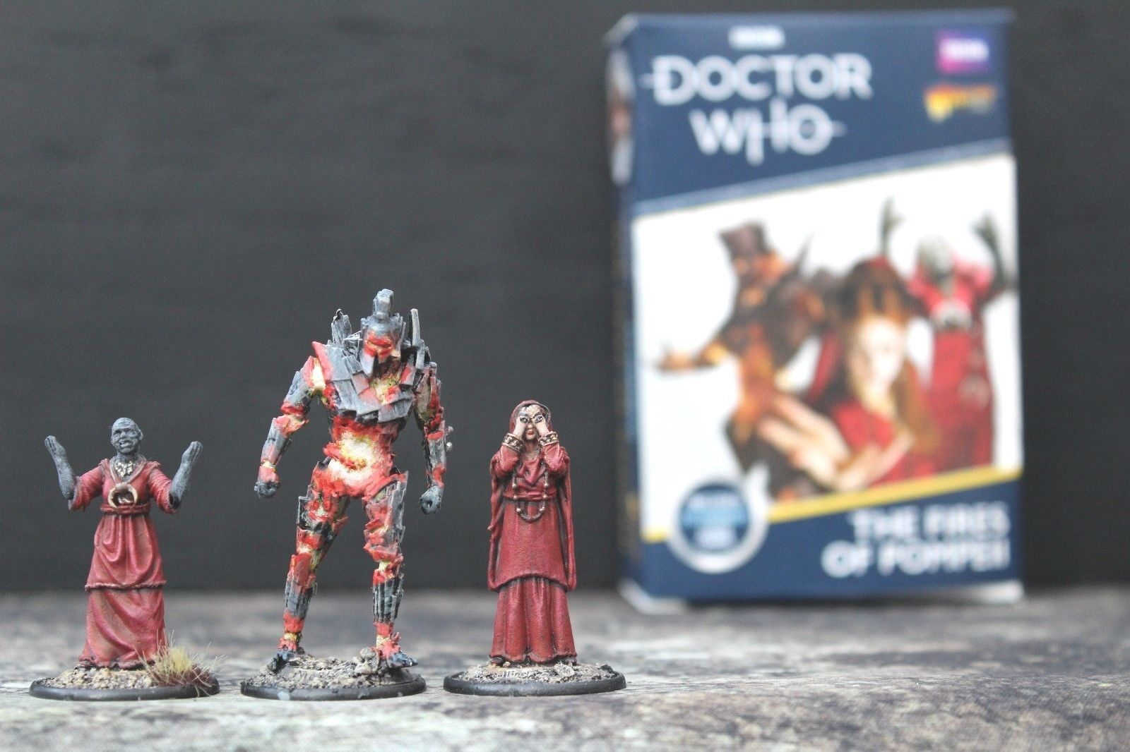 Doctor Who Fires of Pompeii set Warlord Games with well painted miniatures
