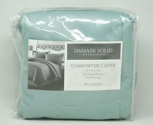 CHARTER CLUB Damask Solid 100/% Pima Cotton 500TC  Full//Queen DUVET COVER $170
