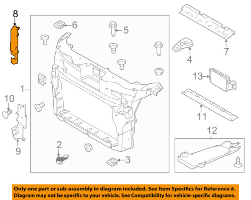 FORD OEM 11-15 Explorer Radiator Core Support-Inner Shield Right BB5Z8310A