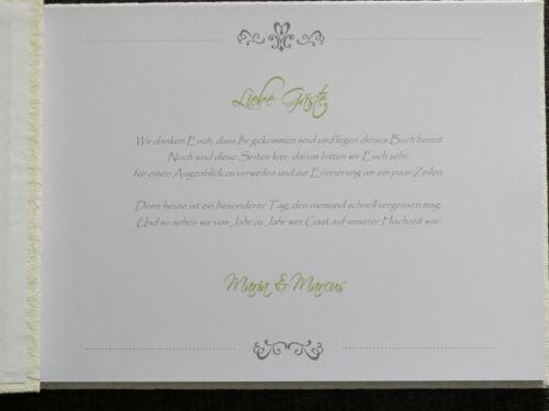 """Gästebuch Hochzeit /""""Classic Schleife/"""" Geschenk"""