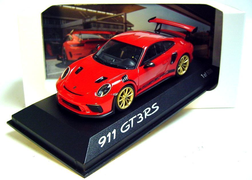 1.43 minihamps 2018 Porsche 911 991 II gt3 RS Guards rojo 500 actividades de promoción de distribuidores