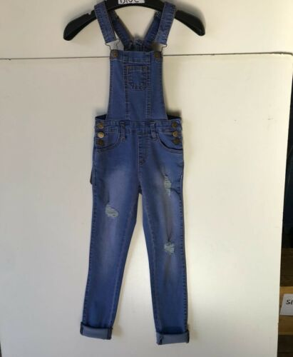 GIRLS TRENDY OVERALL LONG PANTS TWLL COMFY BASIC CLASSIC ONE PIECE KIDS FAVE/'S