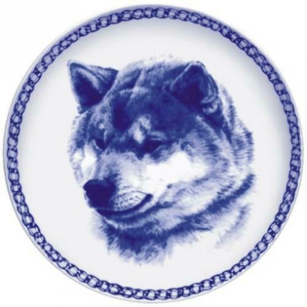 Shiba Inu - Dog Plate made in Denmark from the finest European Porcelain