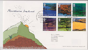 GB-ROYAL-MAIL-FDC-FIRST-DAY-COVER-2004-NORTHERN-IRELAND-STAMP-SET-GARRISON-PMK