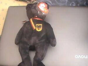 TY Beanie Baby - FREIHERR VON SCHWARZ the Bear (Germany Excl) (8.5 inch) - MWMTs
