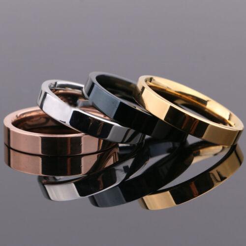 4mm Women Men/'s Titanium Steel Wedding Engagement Band Ring Jewelry Size 5-12
