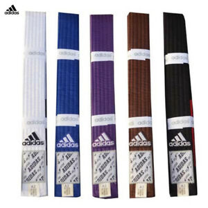 adidas BJJ Gi Rrank Belts / Jiu Jitsu Belts Made Of High Quality Cotton