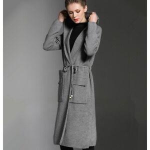 ff0df0f01a39bc Caricamento dell'immagine in corso coprispalle-lungo-morbido-cappotto -grigio-cardigan-copri-spalle-