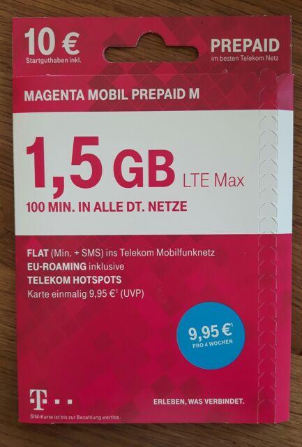 Sim Karte Telekom.Telekom 0160 5x5 15 99 Magenta Mobil Prepaid M Triple Sim Karte