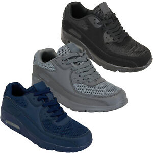 Mens-Bubble-Trainers-Lace-Up-Running-Shoes-Mesh-Jogging-Sports-Gym-Casual-New