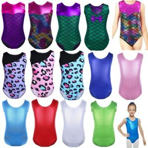 Children-Shiny-Gymnastics-Leotards-Girls-Ballet-Dance-Sparkle-Bodysuit-Costume