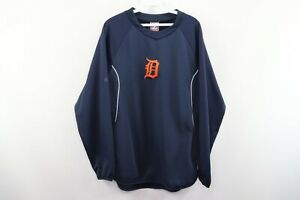 Majestic-Mens-Medium-Therma-Base-Detroit-Tigers-Old-English-D-Baseball-Sweater