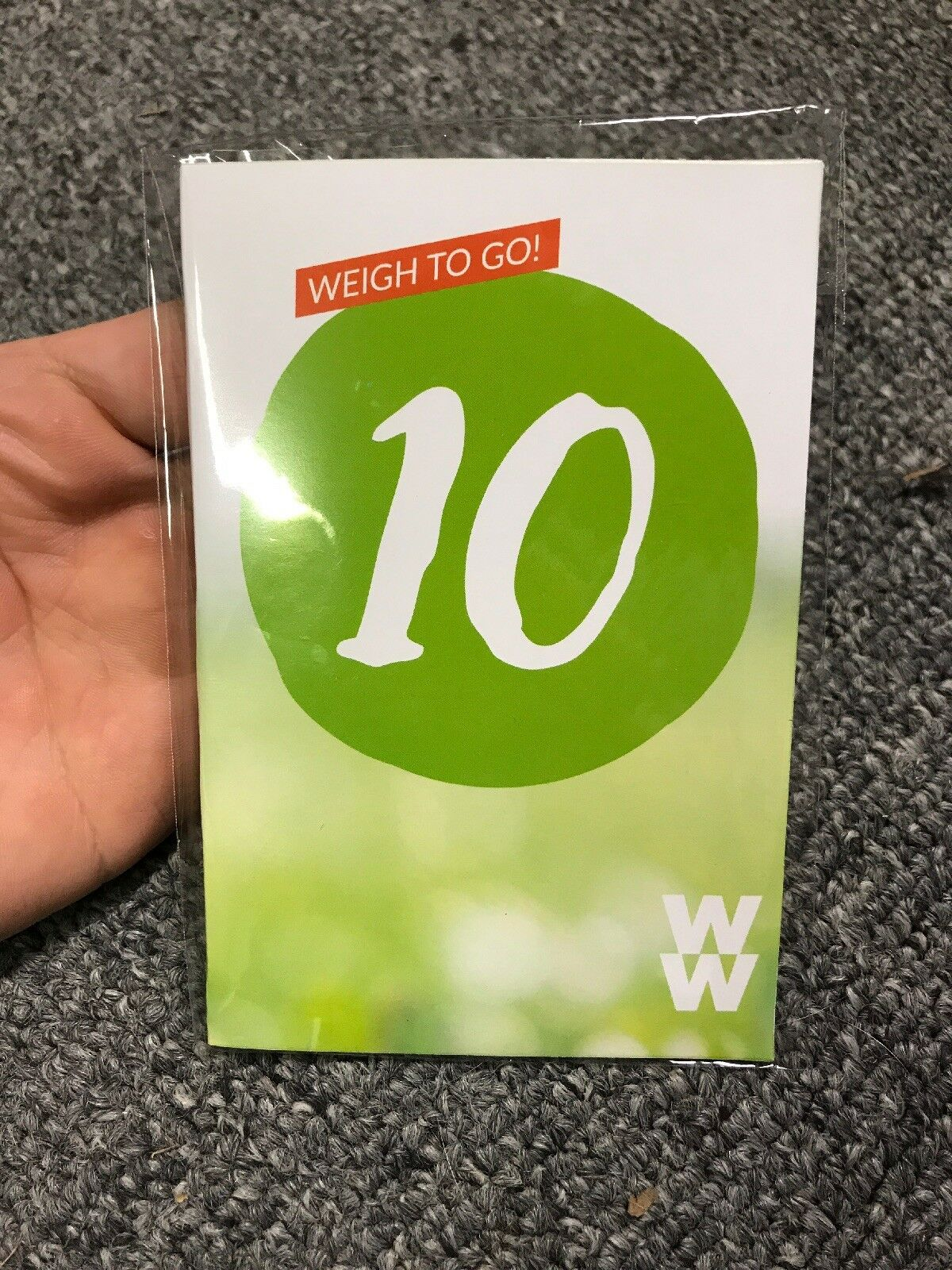 """Weight Watchers Freestyle Charm 10 lbs """"WEIGH TO GO"""" - NEW in Package - A 1"""