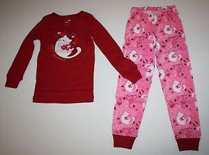 Gymboree Gymmies CATS RULE Kitty Cat Kitten Pink Pajamas 2pc Set GIRLS Sz 5 NEW