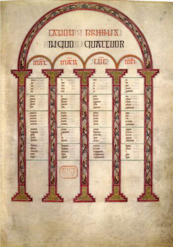 Facsimile LINDISFARNE GOSPELS 700 AD