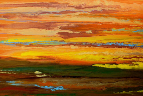 CANVAS OR PRINT WALL ART Abstract Sky