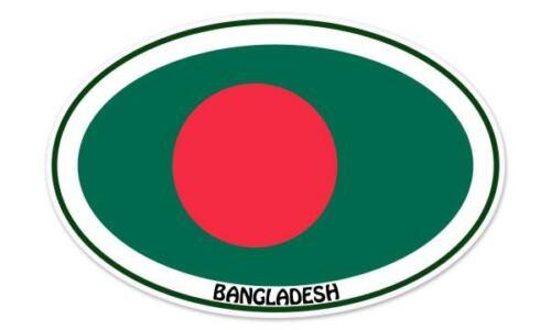 """Bangladesh Euro Flag Oval car window bumper sticker decal 5/"""" x 3/"""""""