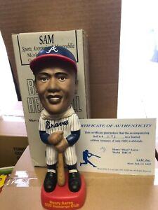 Hank Aaron Atlanta Braves SAM's 500 HRC Bobbing Head Doll NIB IN STOCK