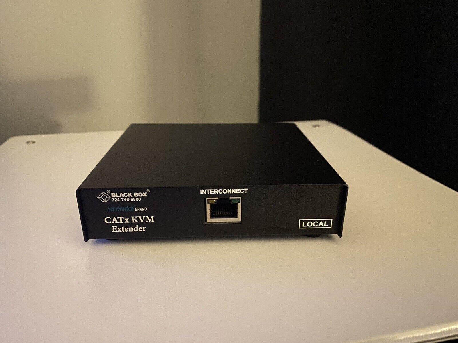 BLACK BOX ACU6001A SERVSWITCH BRAND CATX USB KVM EXTENDER *