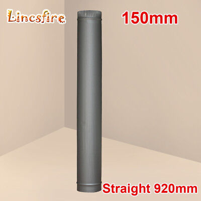 6 Inch 920mm Straight Solid Steel Flue Pipe Chimney Tube