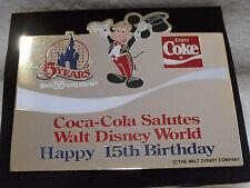 1986 Disney Coke 15th Anniversary Coca Cola Jumbo Centerpiece LE 1000 Pin Rare