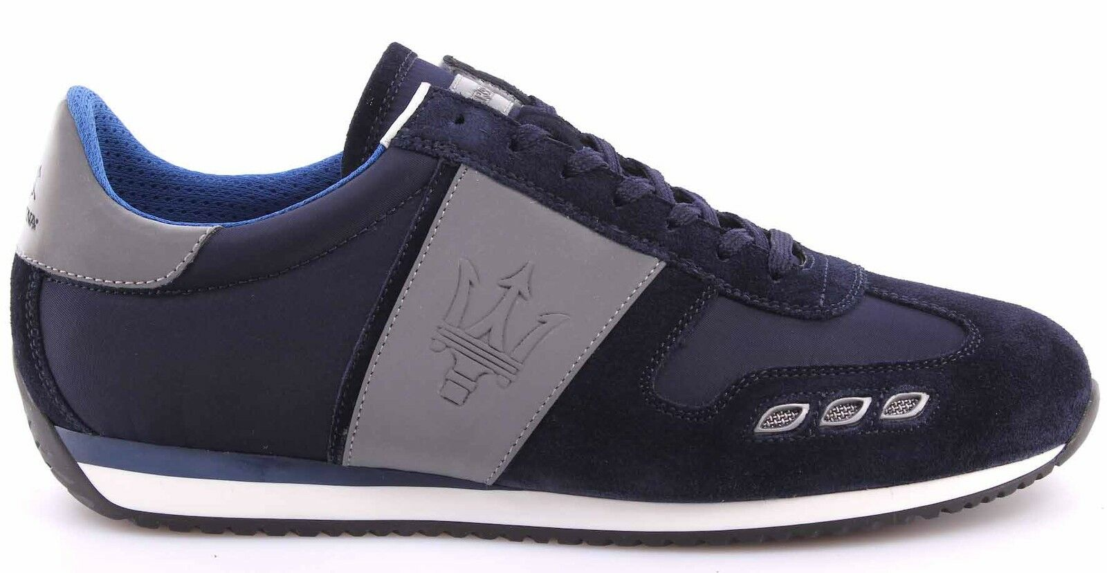 Scarpe Sneakers Uomo MASERATI By Navy LA MARTINA L3095265 Camoscio Navy By Bomber Blue 519d25