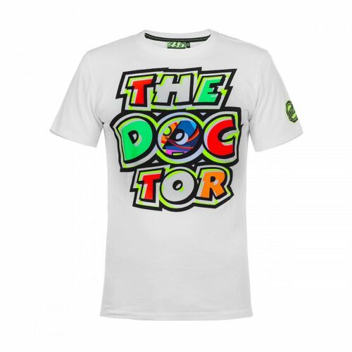 VR46 Official Valentino Rossi  White The Doctor  T/'Shirt VRMTS 260006