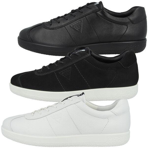 Ecco Soft 7 Men Schuhe Herren Sneaker Halbschuhe Leder black