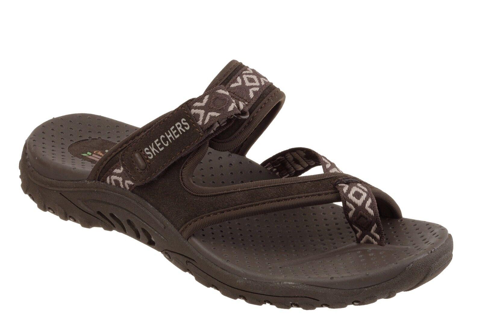 Skechers NEW Reggae Trailway Donna brown sporty comfort sandals Donna Trailway sizes 3-8 327053