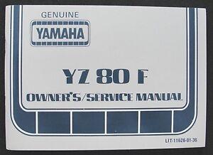 1980-YAMAHA-80-YZ80F-YZ80-DIRT-BIKE-MOTORCYCLE-OWNERS-SERVICE-MANUAL-REAL-NICE