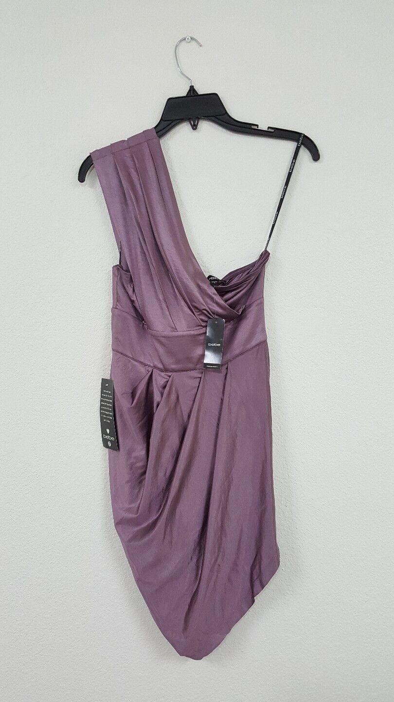 Bebe NWT Blaush lila Shoulder Dress  Woherren Größe S