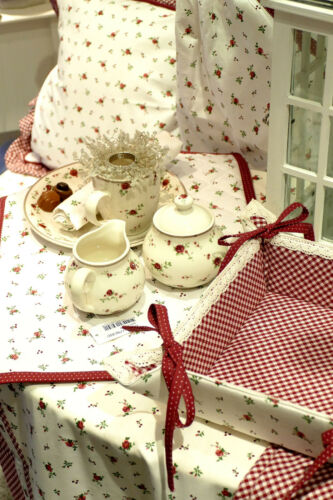 Deko Design Rose Kissen Läufer Küchenhandtücher Landhausstil Tischwäsche