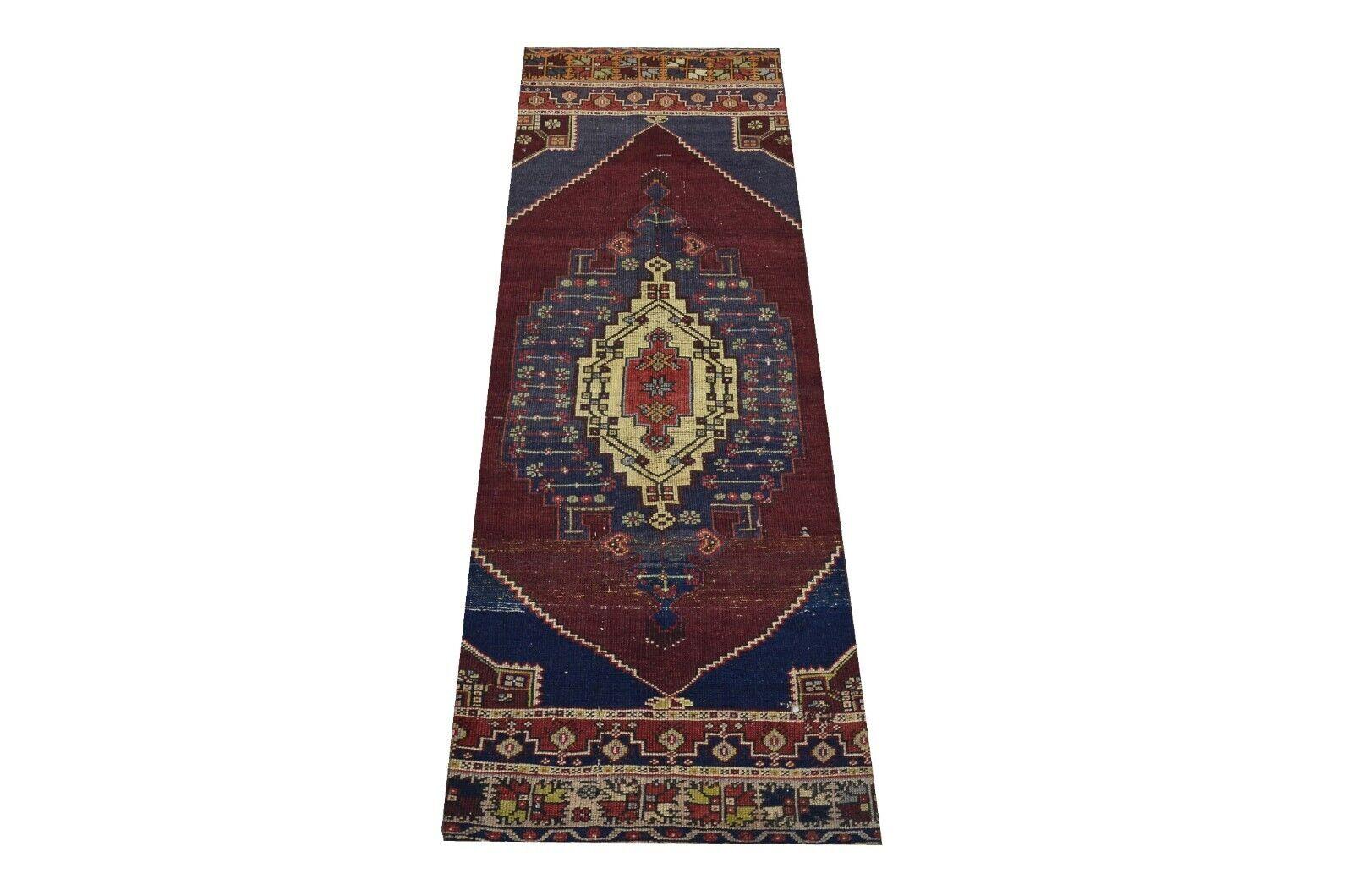 Turkish Runner Rug, Navy blu, Handmade Runner Rug, Turkish rug, Runner rug long