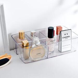Desk Drawer Organizer Clear Plastic Makeup Vanity Tray Home Storage