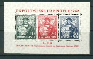 Bizone Hannover Export Fair Block 1 ** post-fresco - Mi. 140,-
