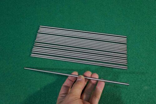 """4.5mm Dia Titanium 6al-4v round bar .177/"""" x 10/"""" Ti Gr.5 grade 5 Alloy rod 10pcs"""