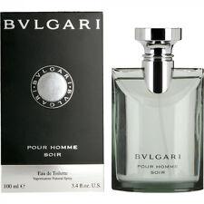 Bvlgari Pour Homme Soir for Men 100ml / 3.4oz Eau de Toilette NEW in Box Bulgari
