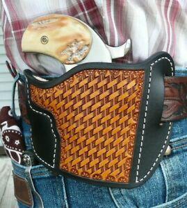 Leather-Holster-Bond-Arms-3-034-Cowboy-Defender-No-Trigger-Guard-Ruff-039-s-Black-amp-Tan