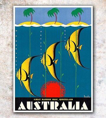 "Australia Art Travel Poster Wall Decor Print 12x16"" A99"