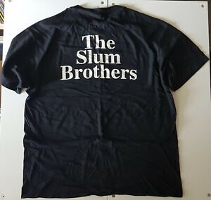THE-SLUM-BROTHERS-PROMO-ORIGINAL-MID-90-039-s-T-SHIRT-BLACK-XL-VINTAGE-HIP-HOP-TEE