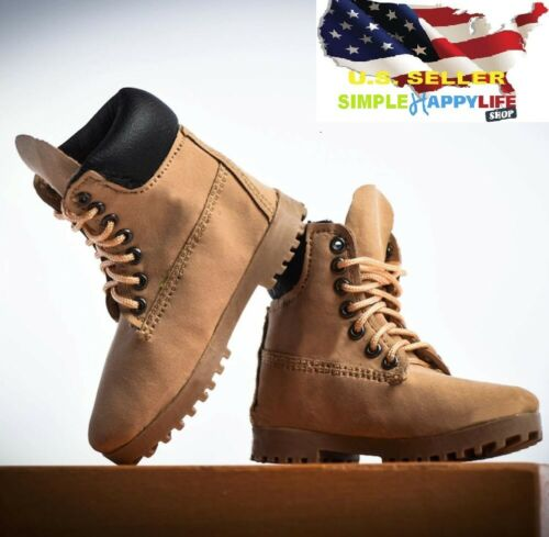 VStoys 1//6 scale women classic yellow work boots for phicen hot toys female❶USA❶