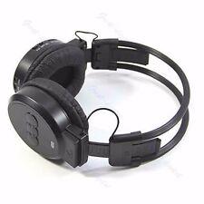 MP3 Player Sport LCD Foldable Wireless Headphone Headset FM Radio TF Card Black