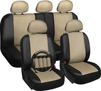 Faux Leather Tan & Black Seat Covers For Ford F150 W/steering Wheel/head Rest on Sale