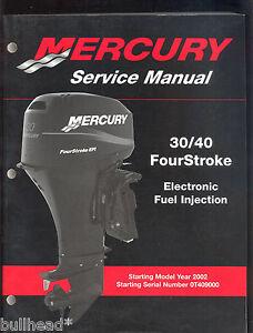 mercury 30 40 four stroke efi service manual 90 883064 ebay rh ebay com 30-40 Krag vs 30-06 30-40 Krag vs 30-06