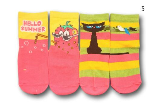 Baby Girl Toddler ABS Anti Non Slip Silicone Sole Cotton Socks 2Pairs 12m-3Years
